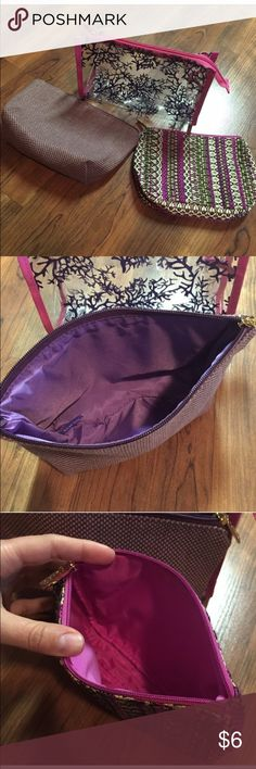 3 Tarte Makeup Bags All unused --- approximately 8x6 varying 1/2 inch to 1 inch in size Bags Cosmetic Bags & Cases
