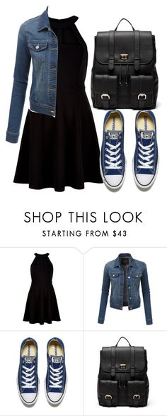 """""""Untitled #910"""" by gracerose03 ❤ liked on Polyvore featuring New Look, LE3NO, Converse and Sole Society"""