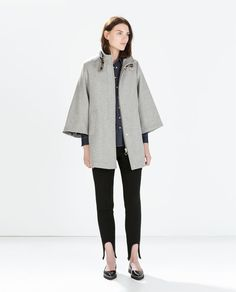 Image 1 of BUTTONED CAPE COAT from Zara | Fashion & Style ...
