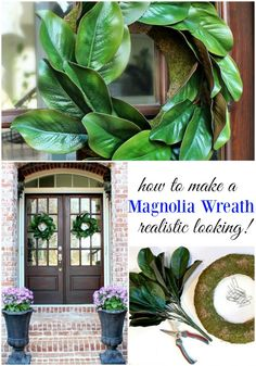 How to Make a Magnolia Wreath - Get creative - Ingredients for making a beautiful realistic looking affordable magnolia wreath