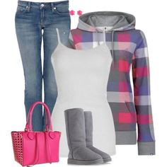 Jeans with stripped sweater and white tank