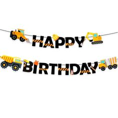 Construction Truck - Birthday Party Decorations Party Banner for sale Construction Party Supplies, Construction Party Decorations, Construction Birthday Parties, Boy Birthday Parties, 2nd Birthday, Construction Theme, Dump Truck Party, Dump Trucks, Birthday Letters