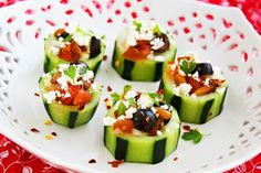 Mediterranean Cucumber Cups with Georgia | The Three Little Piglets