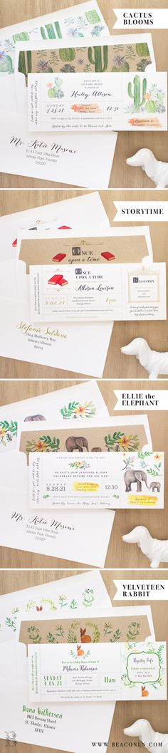Unique Baby Shower Invites With Cute Matching Envelope Liners!