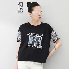 Toyouth 2017 Summer New Ladies T-Shirts Letter Print Short Sleeve Fashion Brand T Shirt Women T-shirt Tops Tee