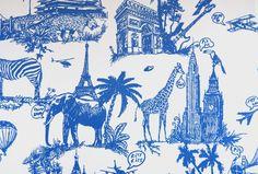 Papier peint collection JC de Castelbajac, référence : 12072401 : Papier peint chambre, Chambre d'enfant, entrée, pièce à vivre à motifs