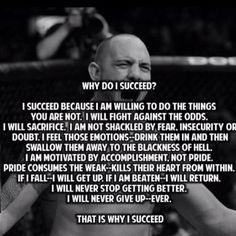Why I succeed