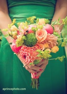 Like these flower colors + maybe a few darker mixed in.  Bupleurum too messy for the bouquet though