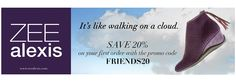 ZEE alexis - It's like walking on a cloud! Save 20% on your first order with promo code FRIENDS20 #StyleHunters