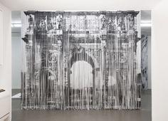 Shredded Xerox prints by Naama Arad.