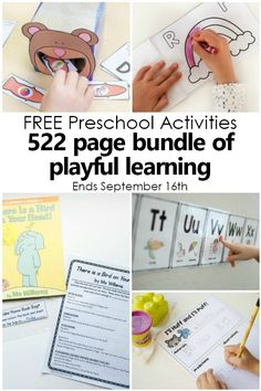 Free Preschool Activity Bundles with 522 pages of playful preschool learning activities #preschool #freebie