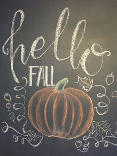 I could bring our chalkboard for us to leave messages for each other or to write Hallo Herbst Fall Chalkboard Art, Chalkboard Doodles, Chalkboard Art Quotes, Blackboard Art, Chalkboard Writing, Kitchen Chalkboard, Chalkboard Drawings, Chalkboard Lettering, Chalkboard Designs
