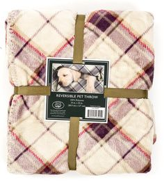Laura Ashley Reversible Laura Ashley Reversible Micro Fur Sherpa Pet Dog Bed Blanket Throw (See More Colors) ** Find out more details by clicking the image : Dog Beds and Furniture