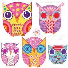 Image from http://www.thaneeya.com/img/art/cute-whimsical-owl-drawings-by-thaneeya.jpg.