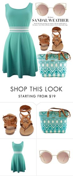 """""""Sandal weather"""" by mareehamasood246 ❤ liked on Polyvore featuring Breckelle's and MANGO"""