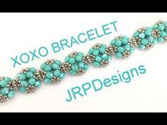 XOXO Bracelet --Beginner level tutorial - YouTube