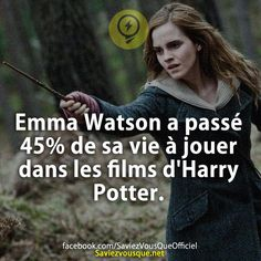 Emma Watson spent of her life playing in Harry Potter movies. & Did you know that? & Every day, discover new information to shine in society! Harry Potter Film, Harry Potter Facts, Funny Fun Facts, Movie Co, Movies And Series, Emma Watson, Tv, Jokes, Did You Know