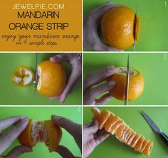 cool-food-hacks-mandarin-orange-strip. 21 life changing mentions that will make you want to run for the kitchen!