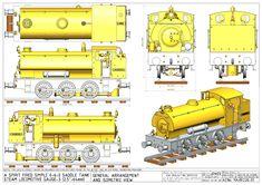 Miniature Steam Engine, Train Drawing, Model Railway Track Plans, Steam Boiler, Model Train Layouts, Aircraft Design, Steam Locomotive, Model Building, Model Trains
