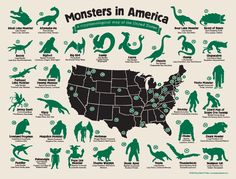 Monsters in America: A Cryptozoological Map of the United States is possibly the first of its kind - a snapshot of American cryptozoology that...