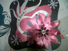 A rock chick card - made using the Craftwell e-craft machine, a small flower punch and some scrap pieces of paper.