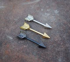 Freccia d'argento capezzolo 14g Piercing 316L di HumbleHippy
