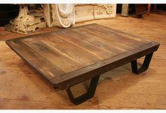 Vintage Industrial Coffee Table Pallet -- Industrial Furniture