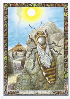 Bees are considered sacred in the Druid tradition: they symbolize community, celebration, organization.
