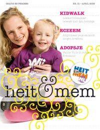 De allerearste cover fan it blêd 'Heit & Mem'. Nr. 1 - 2009