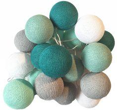 Cotton Ball Lights Cotton Balls lichtslinger Mint Woodland Bedroom, Cotton Ball Lights, Marimo, Beach Room, Kulfi, Kids Prints, Nursery Design, Nursery Themes, Kidsroom