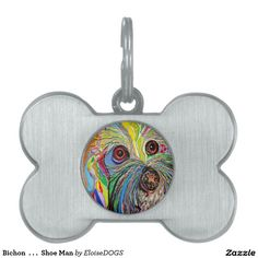 Bichon  . . .  Shoe Man Pet Tag