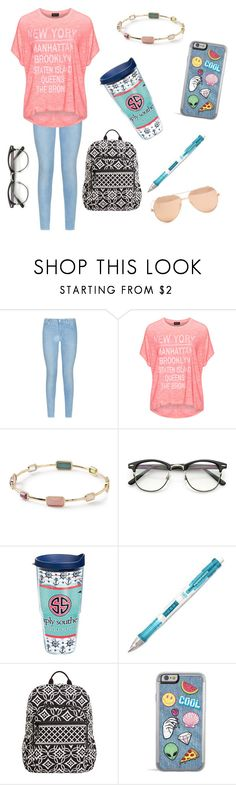 """""""Tuesday (Part 2)"""" by omlmeadow ❤ liked on Polyvore featuring 7 For All Mankind, Replace, Ippolita, Tervis, Paper Mate, Vera Bradley and Linda Farrow"""