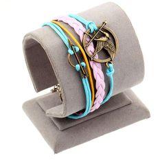 Vintage Braided Anchors bracelet best friends Leather Bracelet men jewelry heart charm Bracelets for women