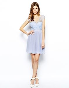 Elise Ryan Skater Dress with Scallop Lace Wrap Front -- on sale for $29!