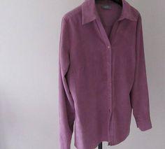 Vintage Wallis 1990 Women's Shirt. Size 16 Suede Effect