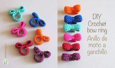 Diy crochet bow ring Tutorial ♡ Teresa Restegui http://www.pinterest.com/teretegui/ ♡