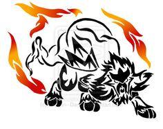 Tribal Entei Tattoo by DansuDragon.deviantart.com on @deviantART