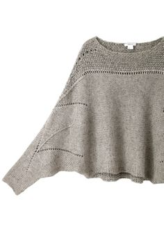 Helmut Lang Polar Knit Cropped Sweater -- Beautiful shaping with openwork stitches!