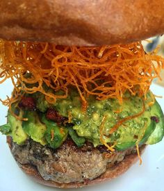Pono is at it again with their 'Alekina burger on the seasonal menu! Organic beef burger, housemade chimichurri sauce, organic avocado, chorizo, and a sweet potato string nest   Seriously, this is what burger dreams are made of!!! #fudgeveinapproved