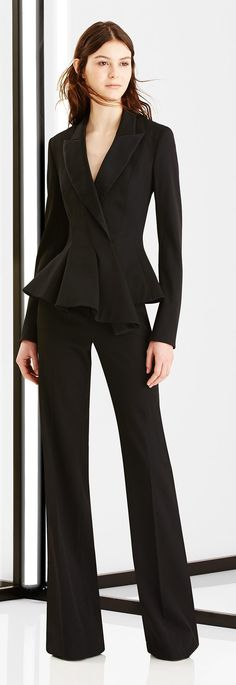 Carolina Herrera 2016 via @OnlyDrinkChamps. #suits #officewear