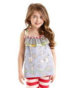 Look at this Matilda Jane Clothing Blue Judy & Ethel Tank - Toddler & Girls on #zulily today!