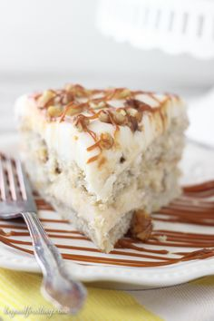 Banana Cake with Browned Butter Rum Frosting