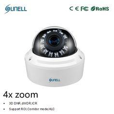 zk18 Sunell HD 2MP / 4MP 1080P 4x Zoom Varifocal Lens Onvif POE IR Dome Network IP Security Smart CCTV surveillance camera