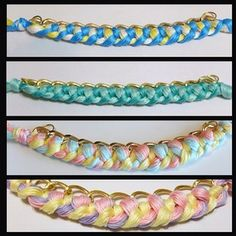 wovenchain bracelets - candycolour by theghk