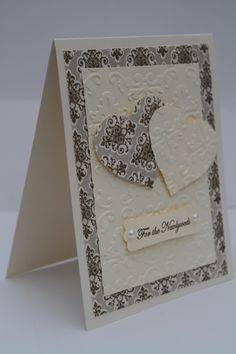 By Pippa Milburn. Pretty card for anniversary. [Note: Website source link goes to her blog but not to this card.]