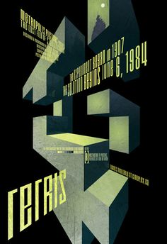 Tetris  Poster  13X19 by RonGuyatt on Etsy, $20.00