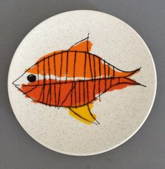 Vintage VERA for MIKASA Plate  Gold Fish  FC by BrocanteBedStuy, $15.00