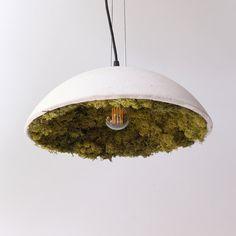 Beton-Lampenschirm mit Islandmoos von HerrMittmann auf Etsy