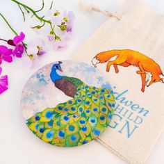 New pocket mirror designs are now available on my website with lovely drawstring linen pouches! Ceridwen Hazelchild Design