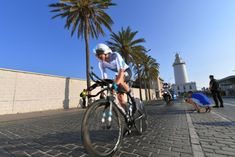 MALAGA, SPAIN - AUGUST 25: Tao Geoghegan Hart of Great Britain and Team Sky / Lighthouse / during the 73rd Tour of Spain 2018, Stage 1 a 8km Individual Time Trial from Malaga to Malaga / La Vuelta / on August 25, 2018 in Malaga, Spain. (Photo by Tim de Waele/Getty Images)